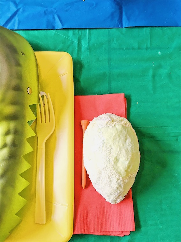 Dinosaur Egg to excavate from a DIY Dinosaur Birthday Bash on Kara's Party Ideas | KarasPartyIdeas.com (15)