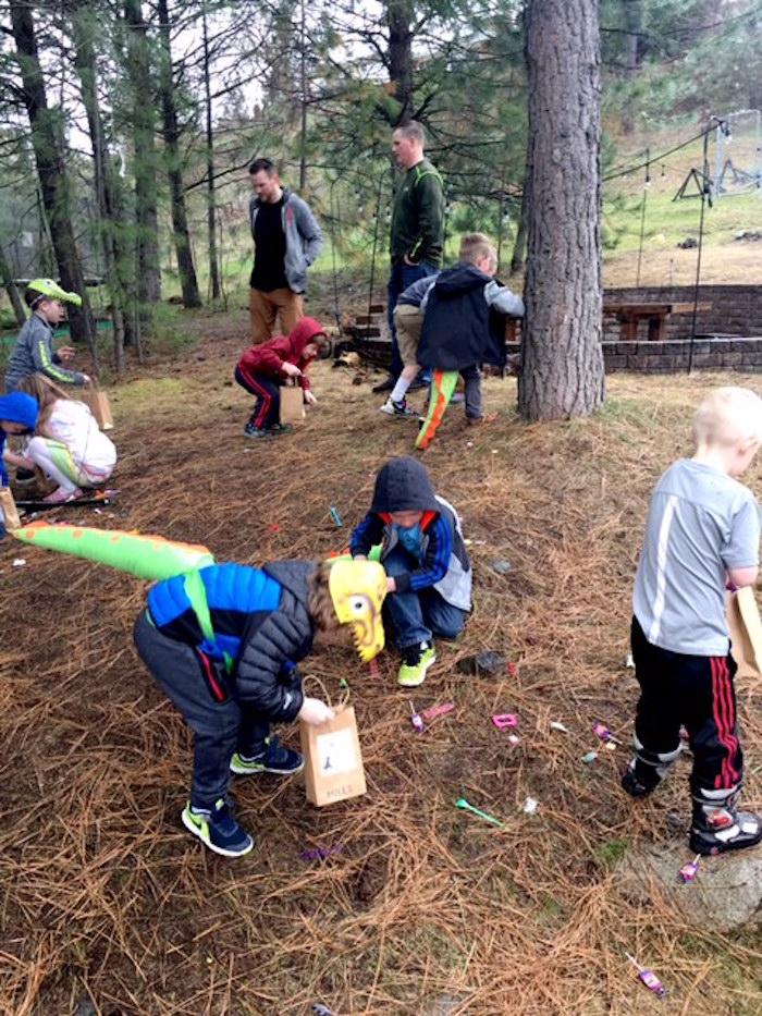 Dinosaur Egg Hunt from a DIY Dinosaur Birthday Bash on Kara's Party Ideas | KarasPartyIdeas.com (6)