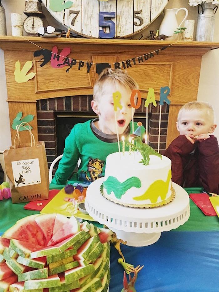DIY Dinosaur Birthday Bash on Kara's Party Ideas | KarasPartyIdeas.com (19)