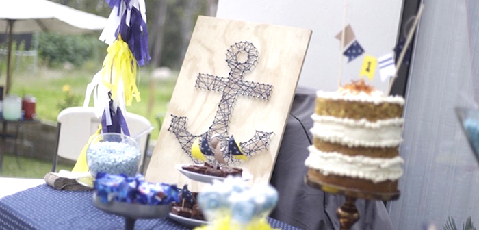DIY Nautical 1st Birthday Party on Kara's Party Ideas | KarasPartyIdeas.com (1)