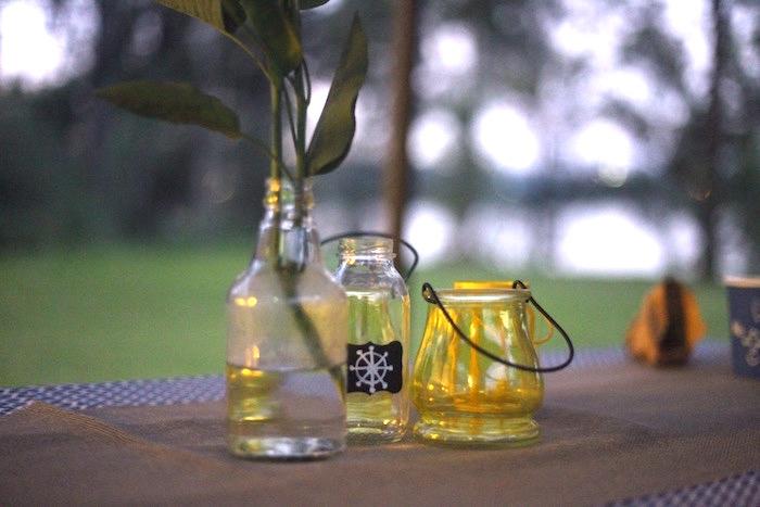 Nautical glass jars from a DIY Nautical 1st Birthday Party on Kara's Party Ideas   KarasPartyIdeas.com (9)
