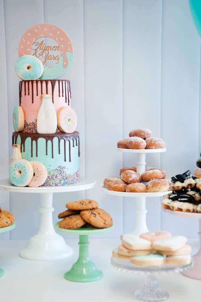Donuts, Milk, & Cookies Birthday Party on Kara's Party Ideas | KarasPartyIdeas.com (12)