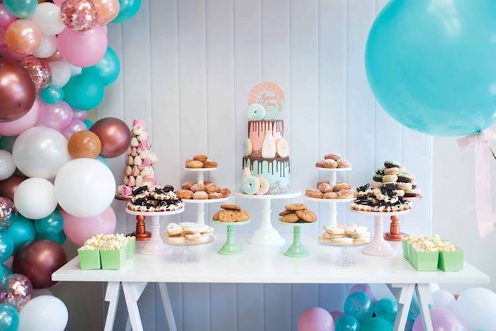 Donuts, Milk, & Cookies Birthday Party on Kara's Party Ideas | KarasPartyIdeas.com (25)