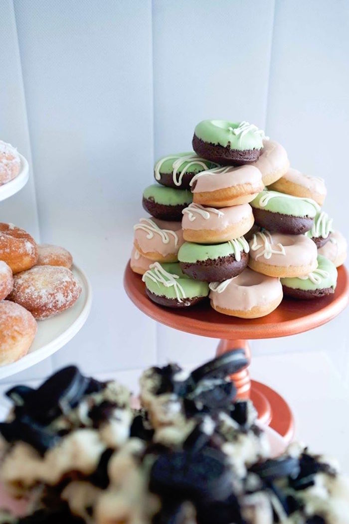 Donuts from a Donuts, Milk, & Cookies Birthday Party on Kara's Party Ideas | KarasPartyIdeas.com (4)