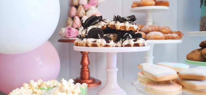 Donuts, Milk, & Cookies Birthday Party on Kara's Party Ideas | KarasPartyIdeas.com (1)
