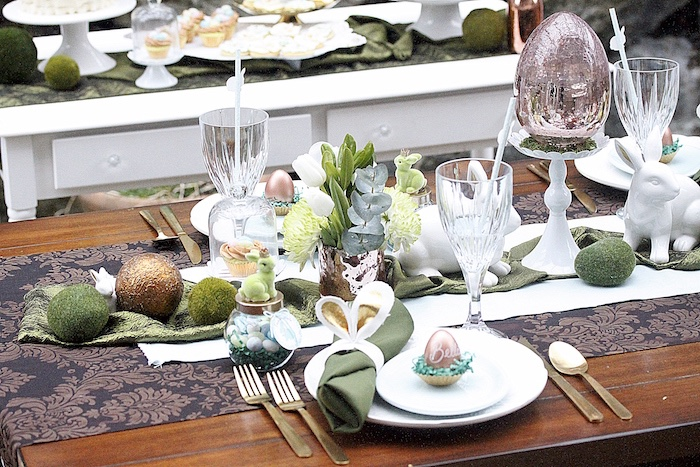 Place setting from an Easter Garden Brunch on Kara's Party Ideas | KarasPartyIdeas.com (22)