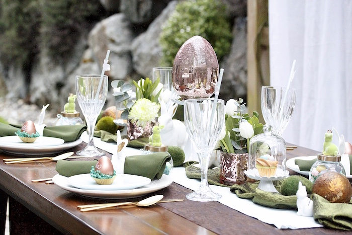Dining tablescape from an Easter Garden Brunch on Kara's Party Ideas | KarasPartyIdeas.com (21)