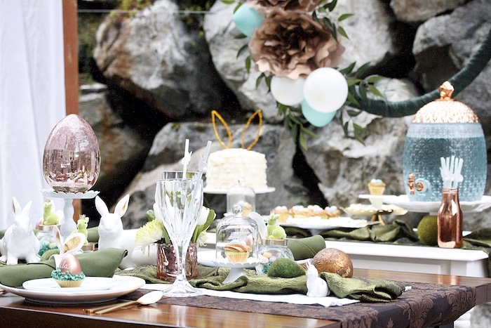 Dining tablescape from an Easter Garden Brunch on Kara's Party Ideas | KarasPartyIdeas.com (20)