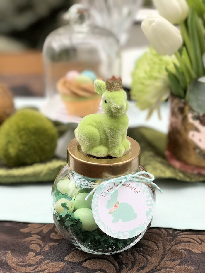 Felt bunny favor jars from an Easter Garden Brunch on Kara's Party Ideas | KarasPartyIdeas.com (17)