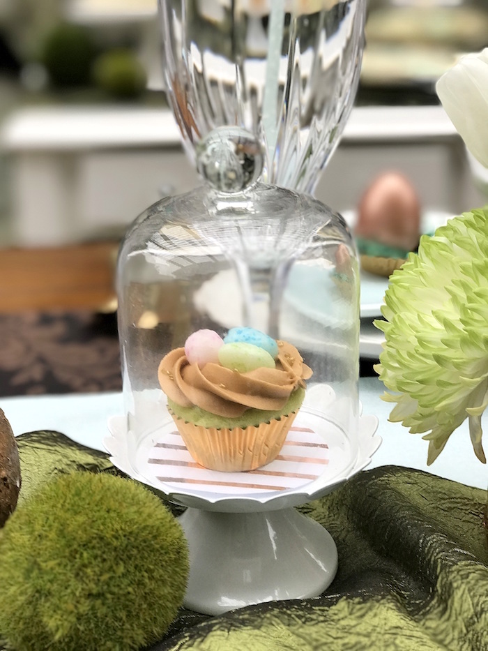 Cupcake in a jar from an Easter Garden Brunch on Kara's Party Ideas   KarasPartyIdeas.com (16)