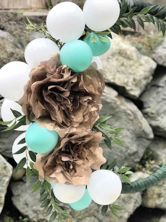 Paper flower, balloon wreath from an Easter Garden Brunch on Kara's Party Ideas | KarasPartyIdeas.com (14)