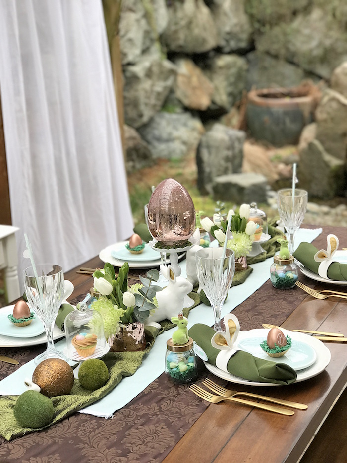 Dining table from an Easter Garden Brunch on Kara's Party Ideas | KarasPartyIdeas.com (13)