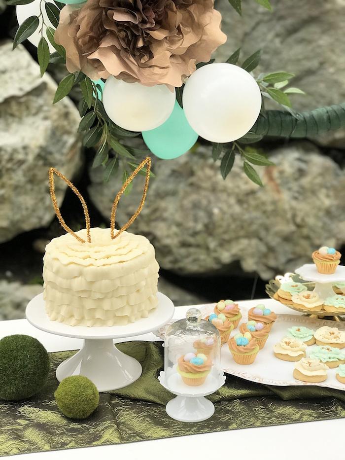 Cakescape from an Easter Garden Brunch on Kara's Party Ideas   KarasPartyIdeas.com (11)