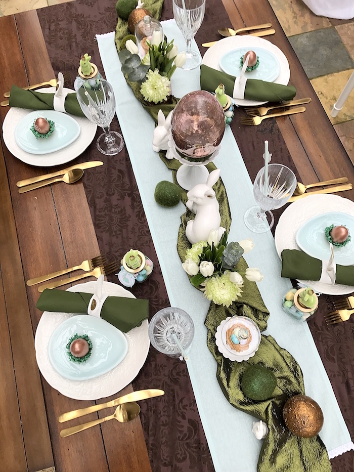 Dining tabletop from an Easter Garden Brunch on Kara's Party Ideas | KarasPartyIdeas.com (10)