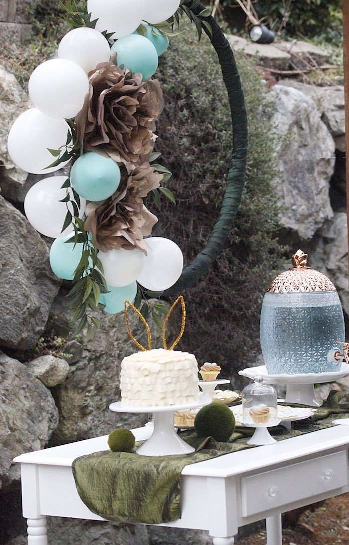 Cake and beverage table from an Easter Garden Brunch on Kara's Party Ideas | KarasPartyIdeas.com (29)
