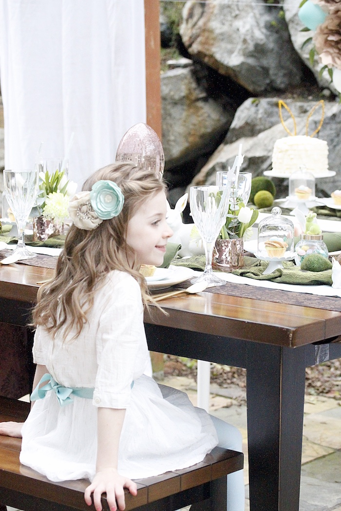 Dining table from an Easter Garden Brunch on Kara's Party Ideas   KarasPartyIdeas.com (25)