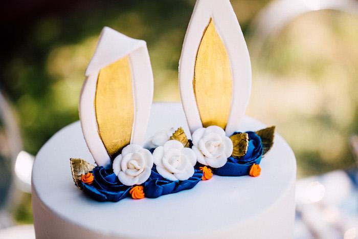 Bunny Ear Cake Top from an Easter Garden EGGstravaganza on Kara's Party Ideas | KarasPartyIdeas.com (16)