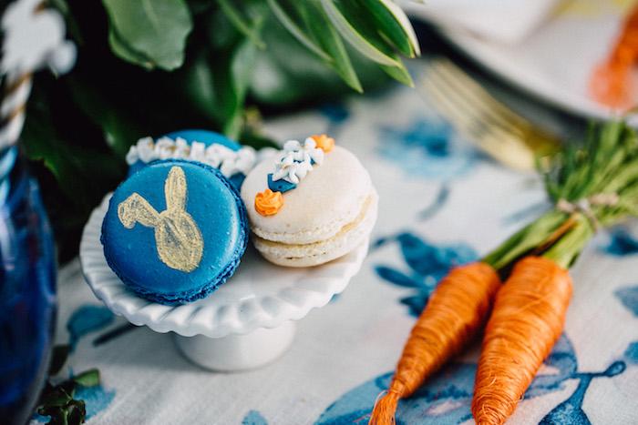 Easter macarons from an Easter Garden EGGstravaganza on Kara's Party Ideas | KarasPartyIdeas.com (10)