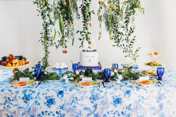 Dessert table from an Easter Garden EGGstravaganza on Kara's Party Ideas | KarasPartyIdeas.com (8)