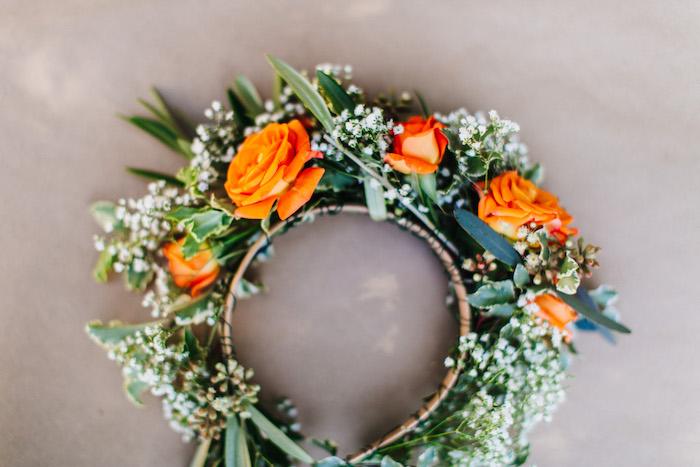 Floral crown from an Easter Garden EGGstravaganza on Kara's Party Ideas | KarasPartyIdeas.com (26)