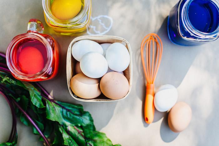 Egg dye table from an Easter Garden EGGstravaganza on Kara's Party Ideas | KarasPartyIdeas.com (25)