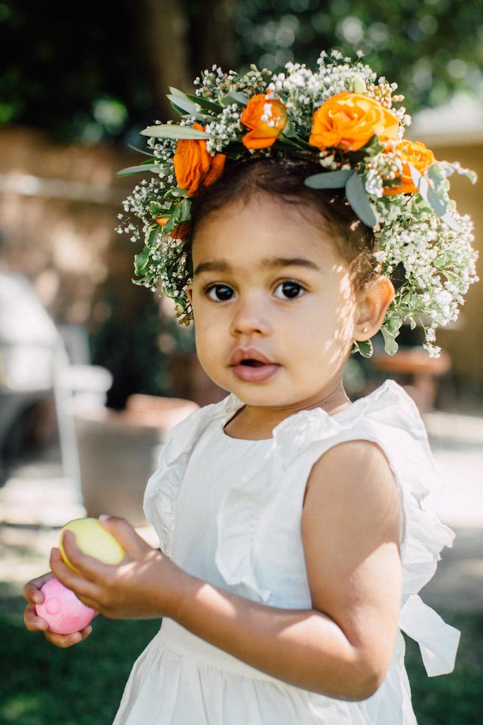 Floral crown from an Easter Garden EGGstravaganza on Kara's Party Ideas | KarasPartyIdeas.com (21)