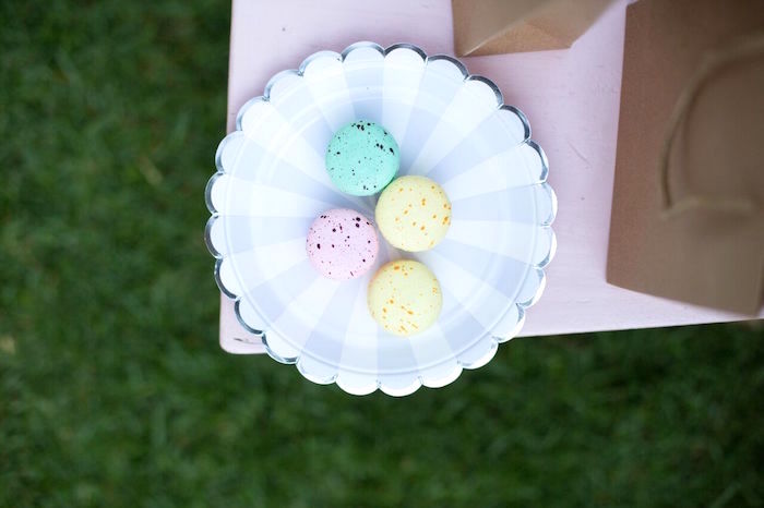 Speckled macarons from an Easter Garden Party on Kara's Party Ideas | KarasPartyIdeas.com (21)