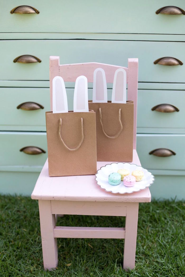 Bunny bags from an Easter Garden Party on Kara's Party Ideas | KarasPartyIdeas.com (20)