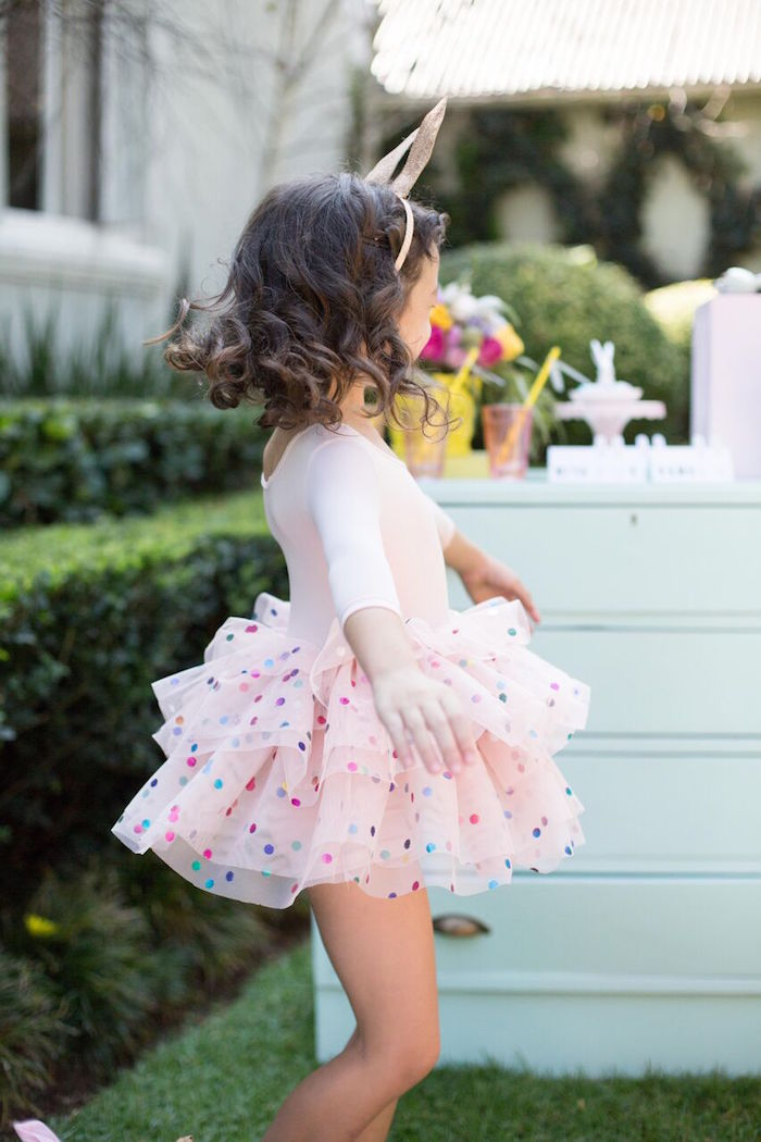 Tutu twirls from an Easter Garden Party on Kara's Party Ideas | KarasPartyIdeas.com (8)