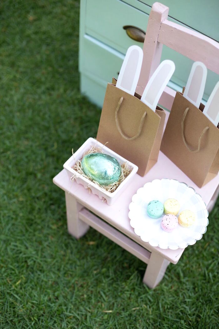 Bunny bags from an Easter Garden Party on Kara's Party Ideas | KarasPartyIdeas.com (4)