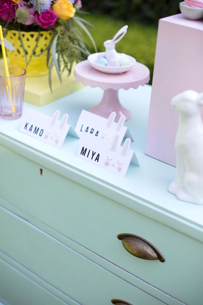 Place cards from an Easter Garden Party on Kara's Party Ideas | KarasPartyIdeas.com (3)