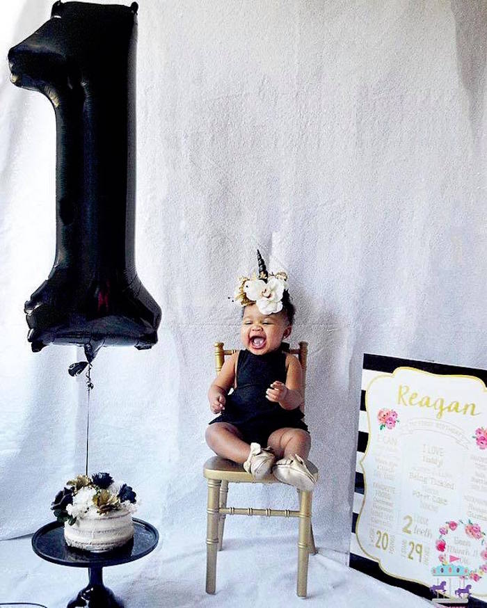 Elegant Black and Gold Unicorn Party on Kara's Party Ideas | KarasPartyIdeas.com (13)