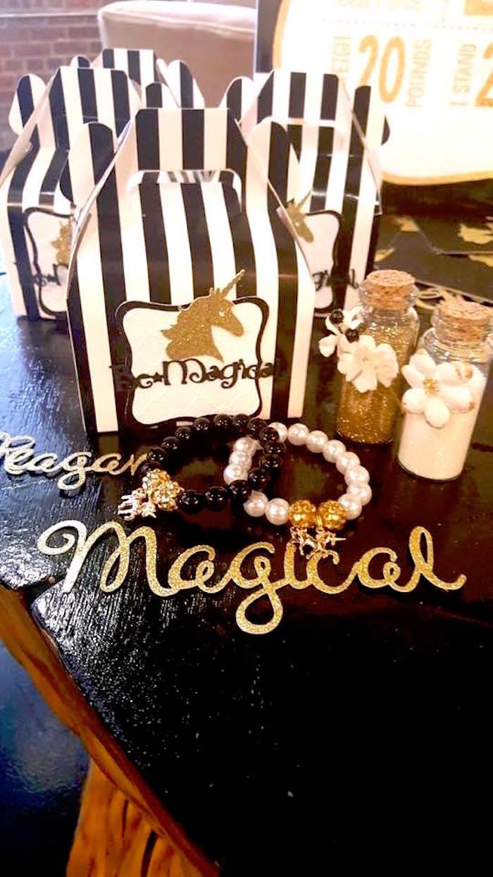 kara u0026 39 s party ideas elegant black and gold unicorn party