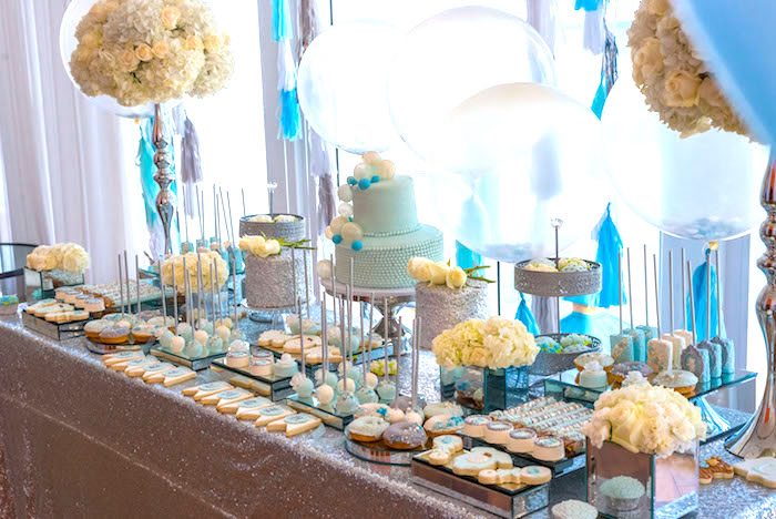 Sweet tablescape from an Elegant Brit Milah Baby Naming Ceremony on Kara's Party Ideas | KarasPartyIdeas.com (4)
