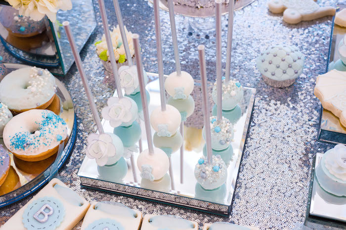 Cake pops from an Elegant Brit Milah Baby Naming Ceremony on Kara's Party Ideas | KarasPartyIdeas.com (13)
