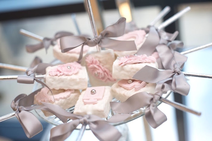 Rice Krispie Treats from an Elegant Dior Inspired Birthday Party on Kara's Party Ideas | KarasPartyIdeas.com (32)