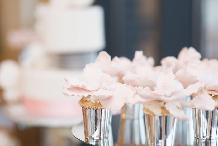 Cupcakes from an Elegant Dior Inspired Birthday Party on Kara's Party Ideas | KarasPartyIdeas.com (28)