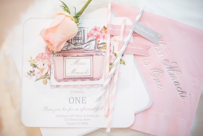Invitation from an Elegant Dior Inspired Birthday Party on Kara's Party Ideas | KarasPartyIdeas.com (25)