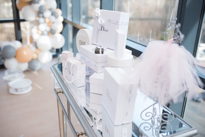 Dior gift boxes from an Elegant Dior Inspired Birthday Party on Kara's Party Ideas | KarasPartyIdeas.com (22)