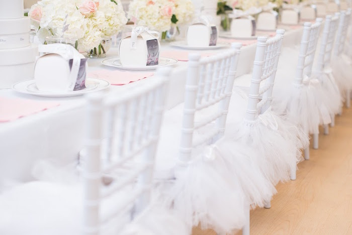 Guest chairs from an Elegant Dior Inspired Birthday Party on Kara's Party Ideas | KarasPartyIdeas.com (16)