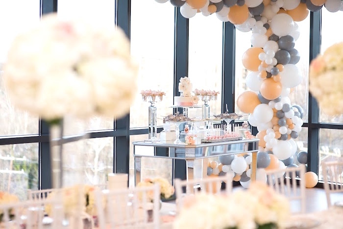Dessert table from an Elegant Dior Inspired Birthday Party on Kara's Party Ideas | KarasPartyIdeas.com (14)