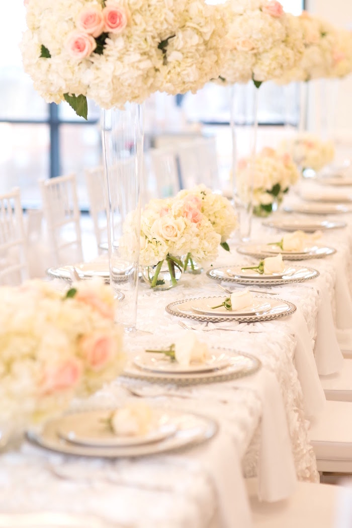 Dining tablescape from an Elegant Dior Inspired Birthday Party on Kara's Party Ideas | KarasPartyIdeas.com (13)
