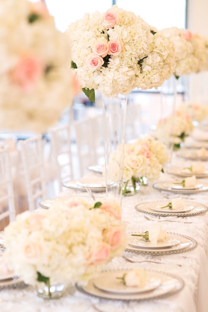 Dining tablescape from an Elegant Dior Inspired Birthday Party on Kara's Party Ideas | KarasPartyIdeas.com (12)