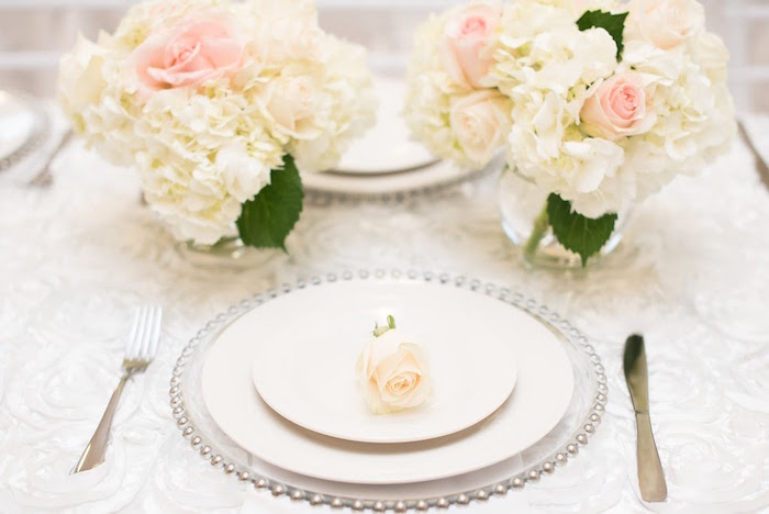 Place setting from an Elegant Dior Inspired Birthday Party on Kara's Party Ideas | KarasPartyIdeas.com (11)