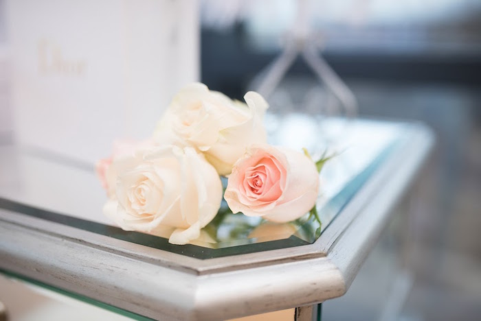 Roses from an Elegant Dior Inspired Birthday Party on Kara's Party Ideas | KarasPartyIdeas.com (10)
