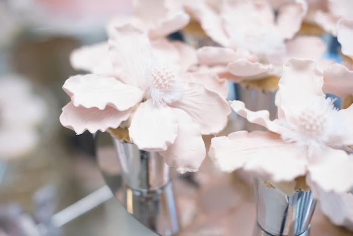 Cupcakes from an Elegant Dior Inspired Birthday Party on Kara's Party Ideas | KarasPartyIdeas.com (37)