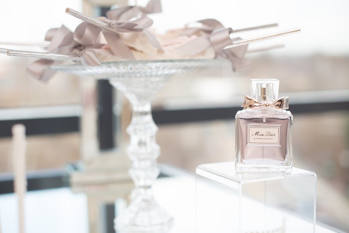 Dior perfume bottle from an Elegant Dior Inspired Birthday Party on Kara's Party Ideas | KarasPartyIdeas.com (34)