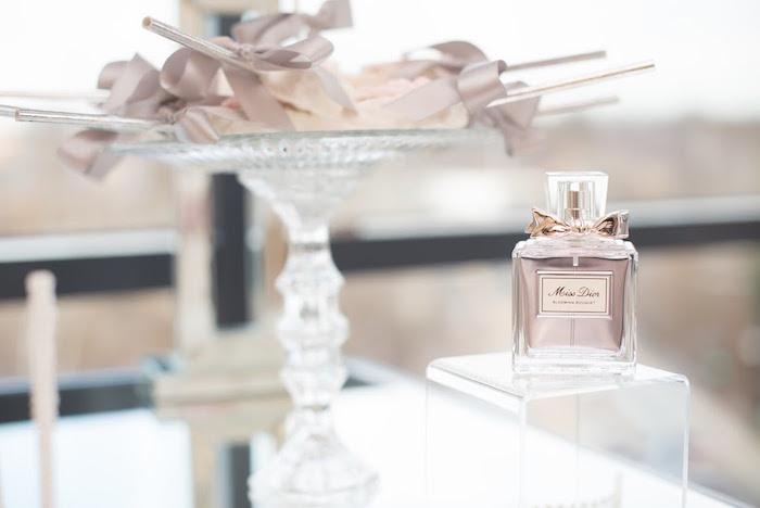 Dior perfume bottle from an Elegant Dior Inspired Birthday Party on Kara's Party Ideas | KarasPartyIdeas.com (34)