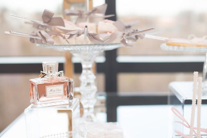 Dior perfume from an Elegant Dior Inspired Birthday Party on Kara's Party Ideas | KarasPartyIdeas.com (33)
