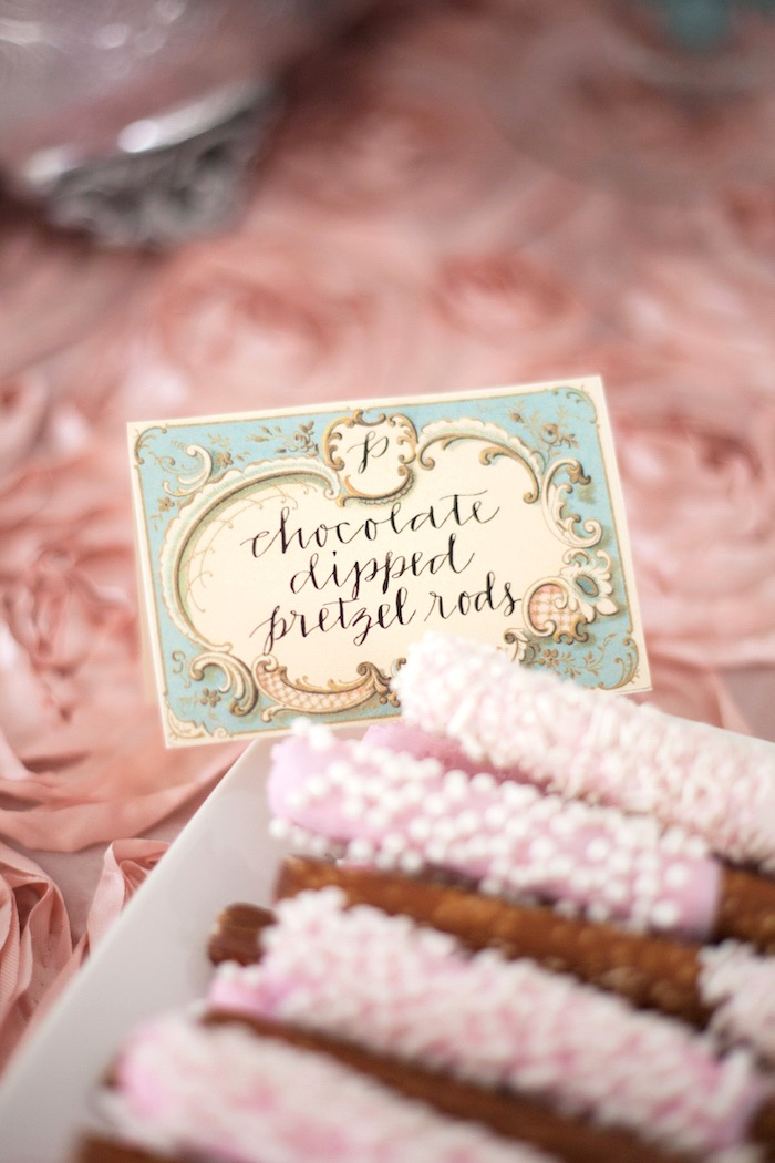 Parisian treat label from an Elegant Parisian First Birthday Garden Party on Kara's Party Ideas | KarasPartyIdeas.com (24)